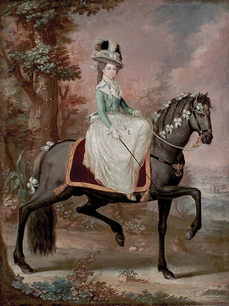 1785-José_Campeche_-_Dama_a_caballo